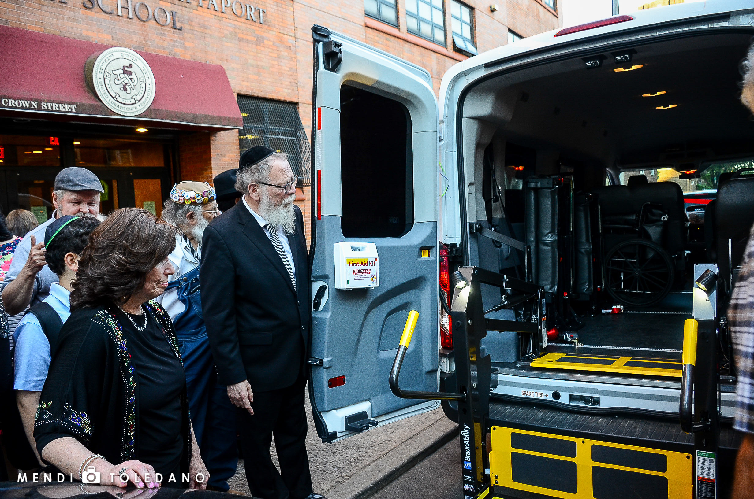 Reviewing the specially equipped ambulette